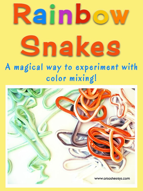 Rainbow Snakes ~ A Magical Way to Experiment with Color Mixing!!