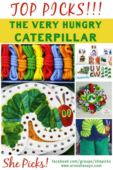 These are all ADORABLE finds!! The Very Hungry Caterpillar Picks ~ She Picks! www.orsoshesays.com