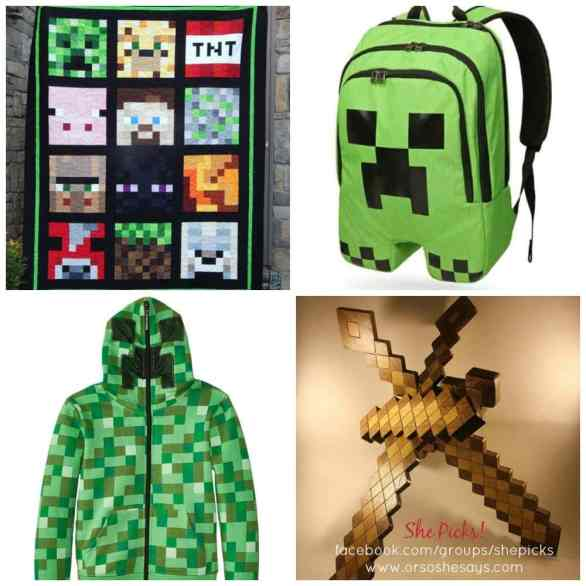 If your kids love Minecraft, you have to check out these awesome finds!! Super cool gift ideas! She Picks! www.orsoshesays.com