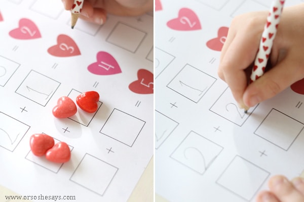 Help your early learners practice their math skills with this free printable cupid counting page.