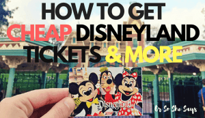 How to get CHEAP Disneyland tickets and more, today on the blog! www.orsoshesays.com