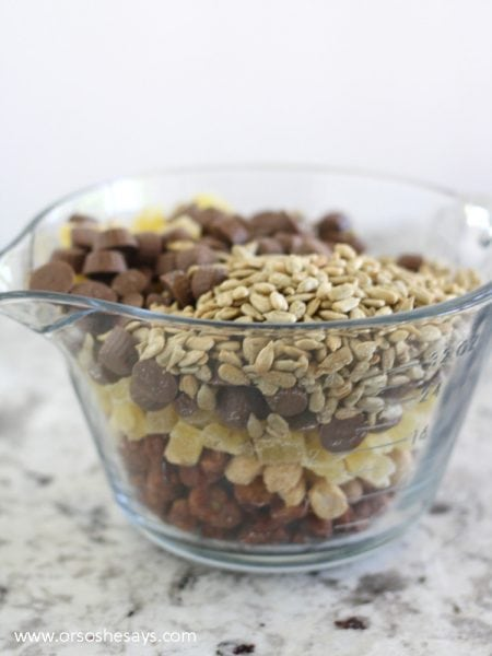 This friendship snack mix is a great activity to get the family together and talking about their favorite things. Check it out on the blog: www.orsoshesays.com