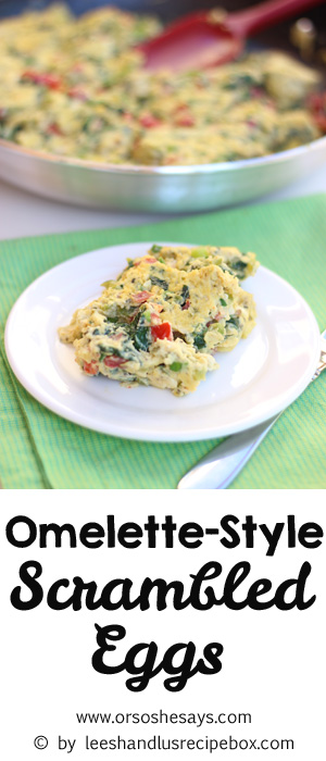 This omelette is a great clean-out the fridge recipe that comes together in a snap. Use up those summer veggies in this dish! www.orsoshesays.com