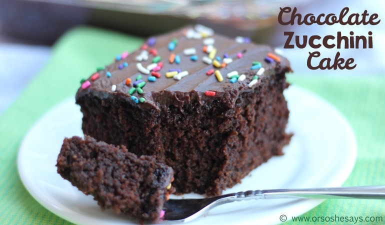 Chocolate Zucchini Cake – A Tasty, Veggie Treat! (she: Leesh and Lu)
