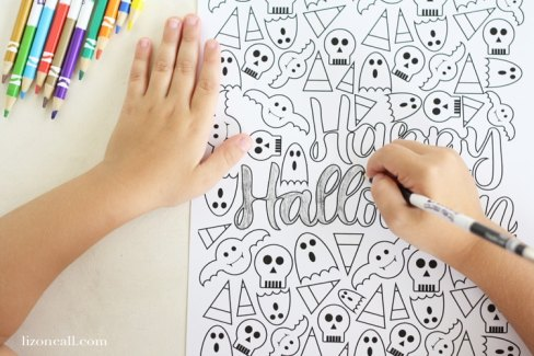 Happy Halloween coloring page at lizoncall.com