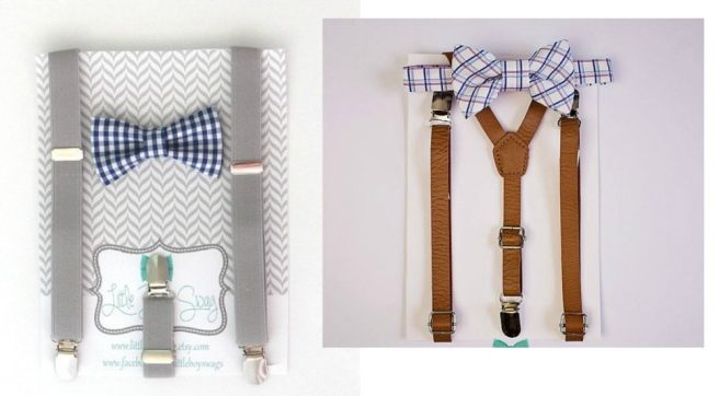 These baby boy suspenders and bow ties are adorable!! So many to choose from too. ~ Gifts for Baby Boy