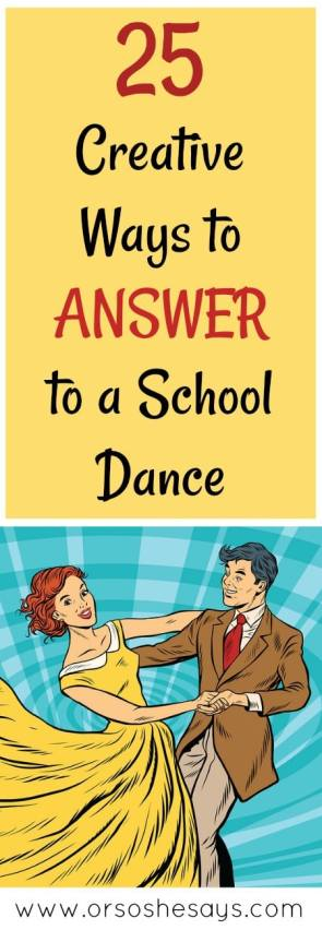 25 Creative Ways to Answer to a Dances #prom #promposal #dances