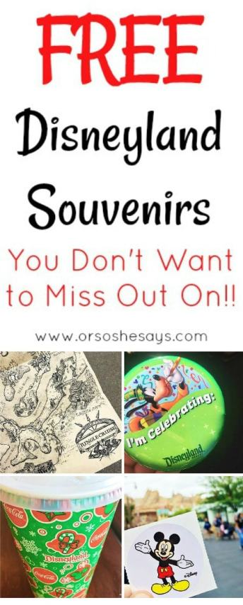 Free Disneyland Souvenirs You Don't Want to Miss Out On #disneyland #vacation