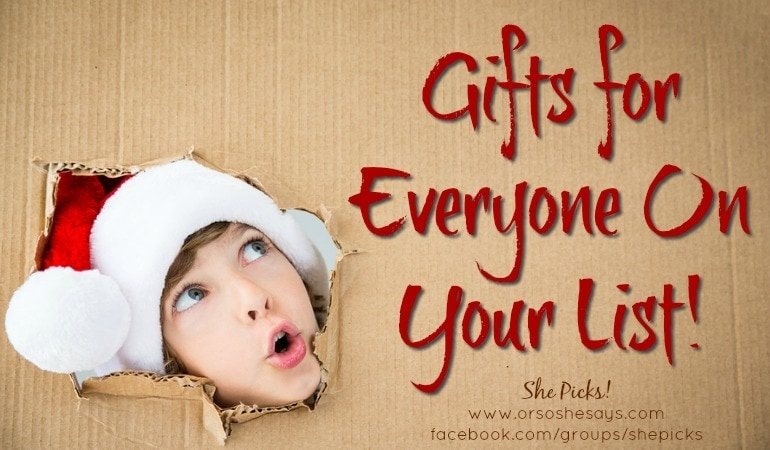 Gift Ideas for Everyone On Your List ~ She Picks! #shepicks