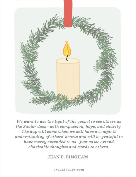 December 2017 Visiting Teaching Message - Get the free printable at www.orsoshesays.com