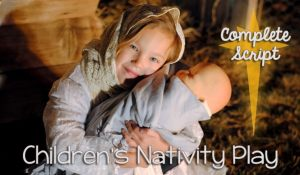 Keep Christmas Christ-centered by having the kids act out this Nativity for family night. Get a free script on the blog today: www.orsoshesays.com.