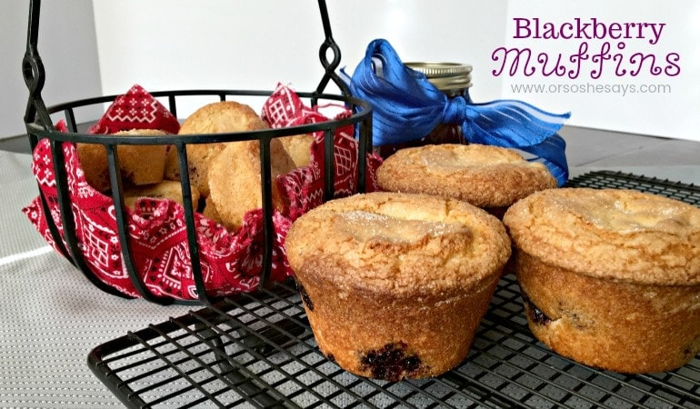 Blackberry Muffins – Perfect for Breakfast On The Go! (she: Jana)