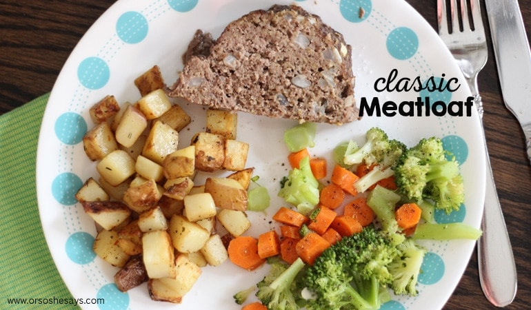 Classic Meatloaf — Simply Delicious (she: Leesh & Lu)