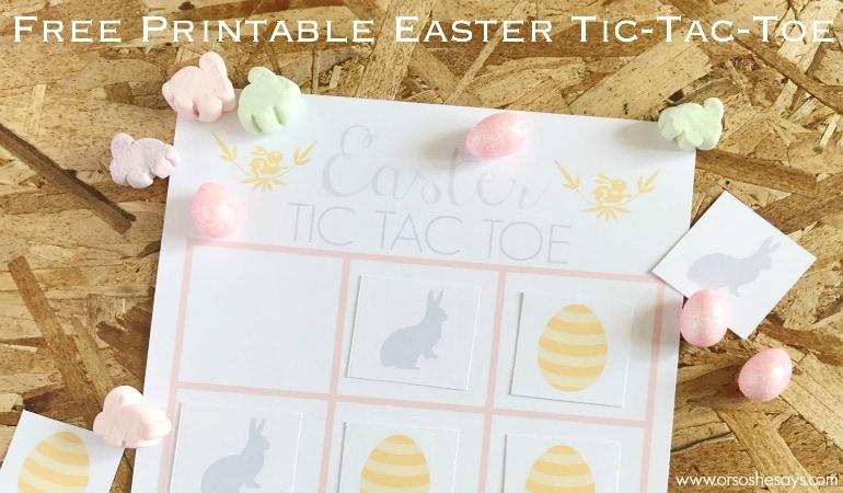 Easter Tic-Tac-Toe Game ~ Free Printable (she: Brooke)
