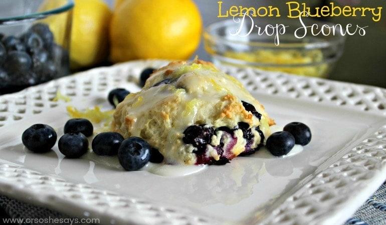 Lemon Blueberry Drop Scones ~ Super EASY Recipe! (she: Jana)