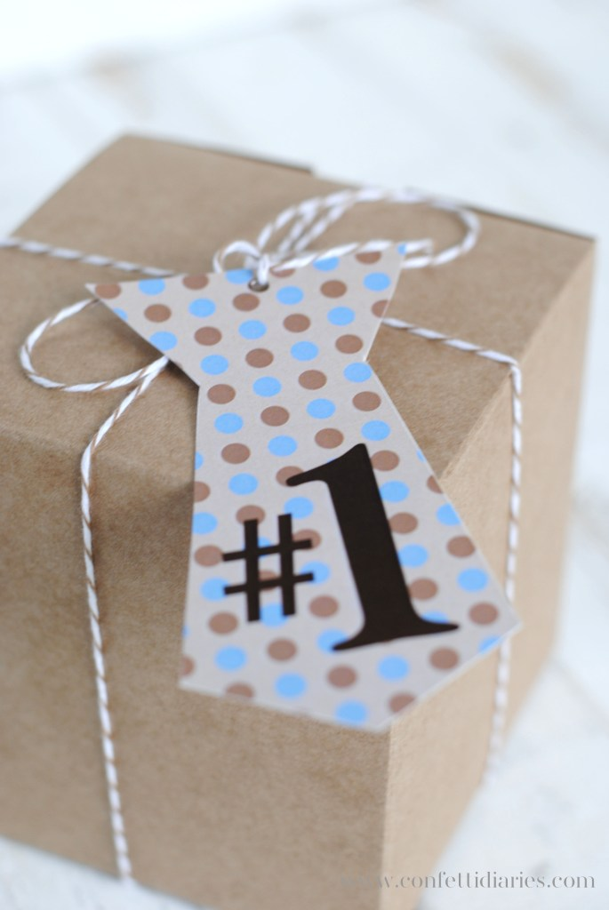 free printable Father's Day tie shaped gift tags
