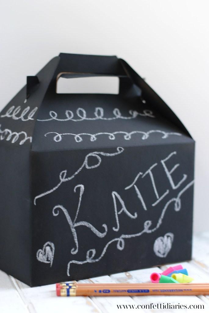 Chalkboard Doodle Favor Box