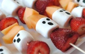 Halloween Ghost Fruit Kabobs