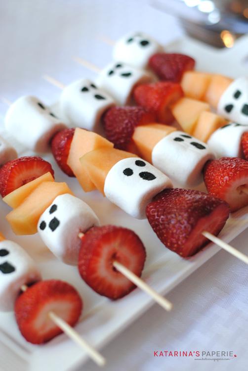 Halloween Ghost Fruit Kebabs   Beanstalk Mums