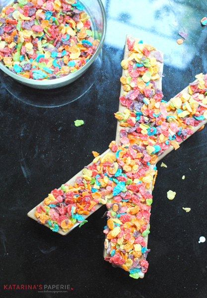 Cereal Paper Mache Letters