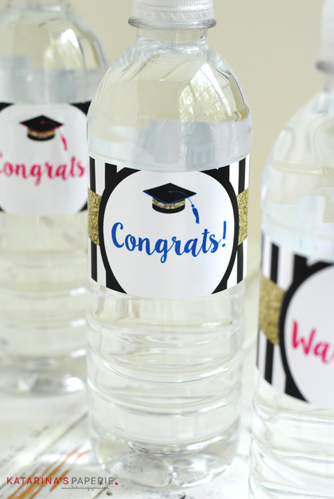 Free Printable Graduation Water Bottle Labels - ONE SIMPLE ...