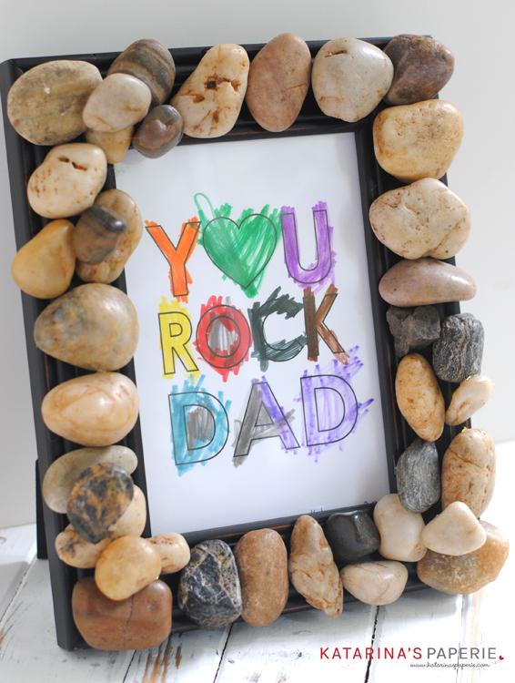 DIY Rock Frame and Free Printable You Rock Art Print