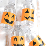Free printable pumpkin water bottle labels