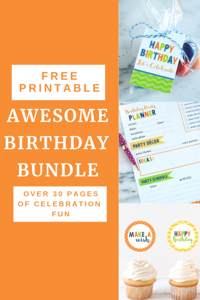 Free printable awesome birthday bundle by Katarina's Paperie #birthdayprintables #freeprintables #kidsbirthday