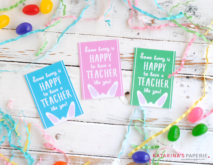 Free Printable Teacher Easter Tags
