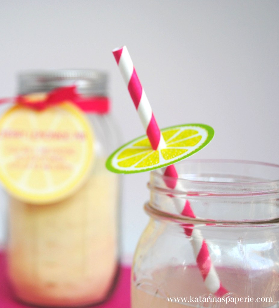 Cherry Lemonade Drink Mix with Free Printables