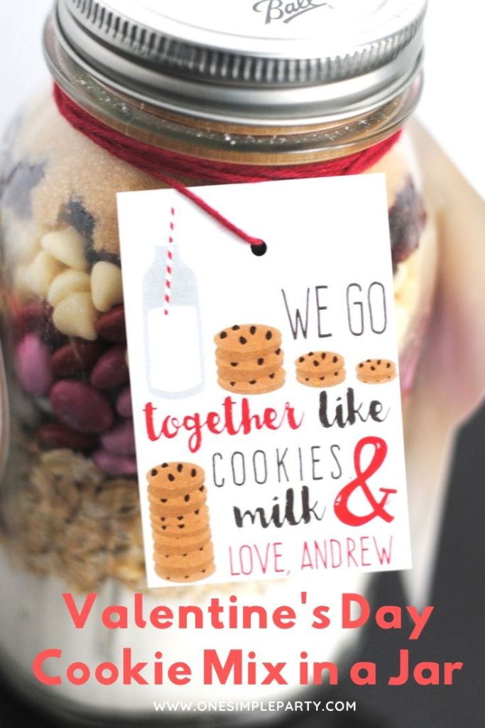 Valentine's Day Cookie Mix in a Jar