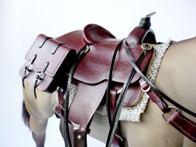 Mahogany saddle