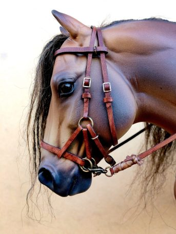 apocalypse bridle with weathered detail