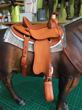 new pattern tan saddle detail