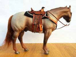 laser etched 1/6 scale saddle