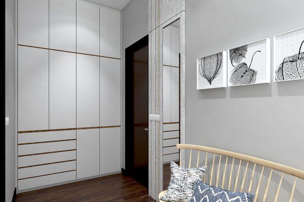 Bedroom 2 - Wardrobe View 3 Rev1