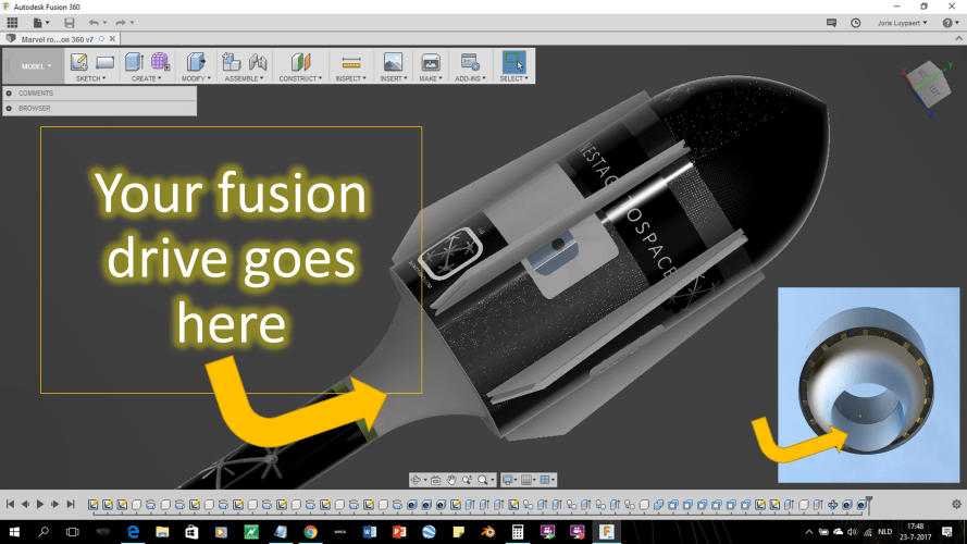 Your fusion drive goes here