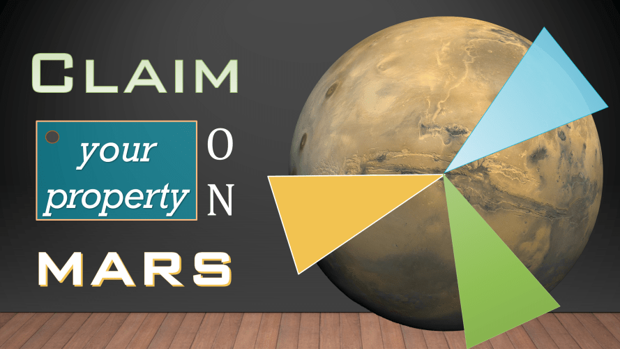 Claim your property on Mars