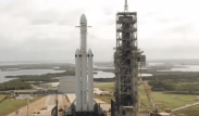 Falcon heavy on launchpad