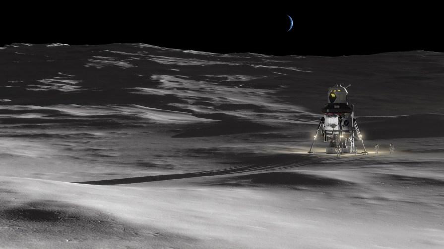 Crewed Lunar Lander - Pole