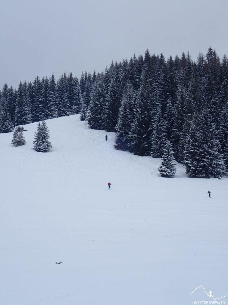 Zimowe podejście na Gęsią Szyję