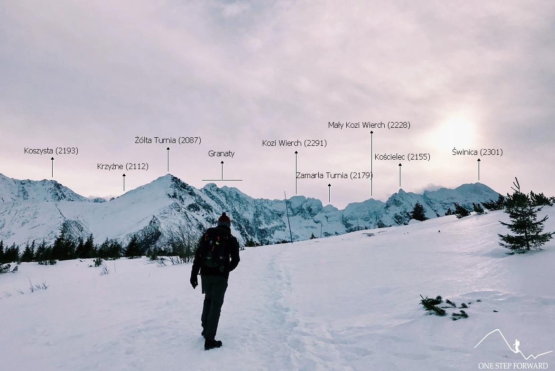Panorama - otoczenie Doliny Gąsienicowej