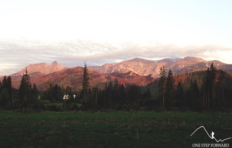 A na sam koniec dnia spotkał mnie taki oto widok. I jak tu nie kochać gór?