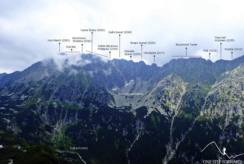 Panorama ze Świstowej Czuby na Buczynową Dolinkę