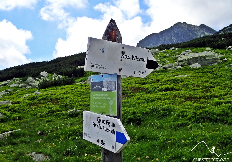 Odejście na Kozi Wierch (2291 m n.p.m.)