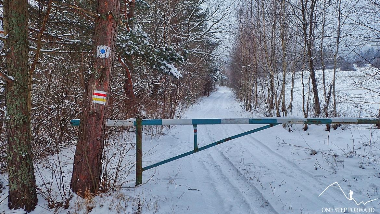 Żółto - czerwony szlak z Ropek na Lackową