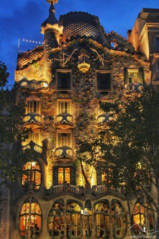 Casa Batllo nocą - Barcelona