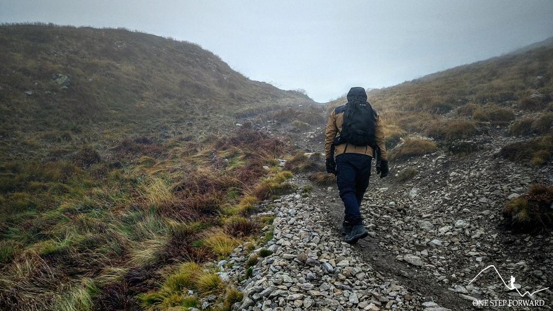 Podejście na Małego Saltyna - ostatnie metry przed szczytem