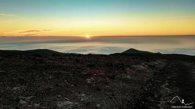 Wschód słońca - w drodze na Pico de la Zarza, Fuerteventura
