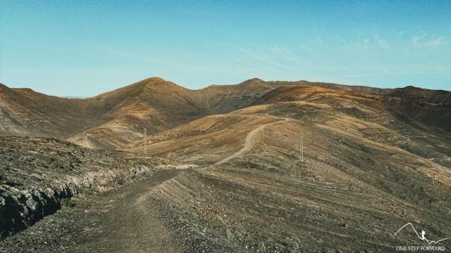 Droga na szczyt Pico de la Zarza, Fuerteventura